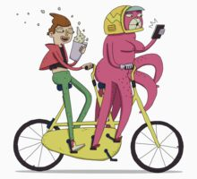 Two Silly men on Their Tandem Bike by gotonat