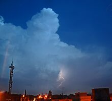 ©HCS Cumulonimbus Precipitatus At Night I by OmarHernandez