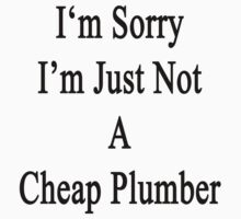 I'm Sorry I'm Just Not A Cheap Plumber  by supernova23