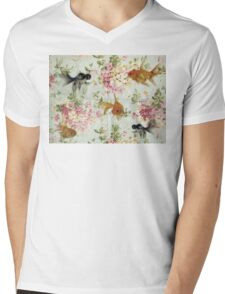 Goldfish wall paper Mens V-Neck T-Shirt