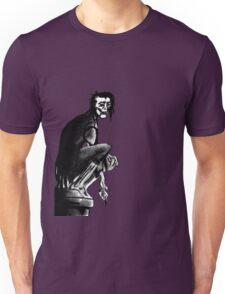 Gothic Gargoyle Perch (alpha background) Unisex T-Shirt