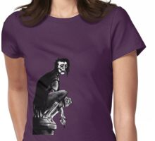 Gothic Gargoyle Perch (alpha background) Womens Fitted T-Shirt