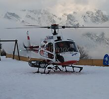 La Tzoumaz: Air-Glaciers Squirrel helicopter by justbmac