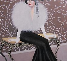 FASHIONABLE ART DECO LADY by Dian Bernardo
