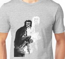 Gothic Gargoyle Perch (alpha with shadow) Unisex T-Shirt
