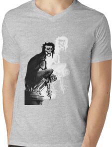Gothic Gargoyle Perch (alpha with shadow) Mens V-Neck T-Shirt