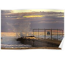 Collaroy beach Storm water pipe Poster
