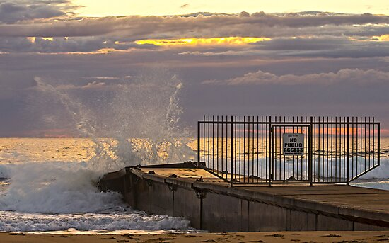 Collaroy beach Storm water pipe by Doug Cliff