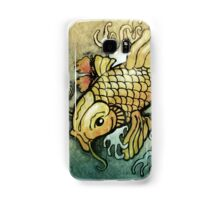 koi fish and Hibiscus  Samsung Galaxy Case/Skin