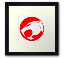 THUNDERCATS RED Framed Print