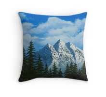 Alpine Scene Throw Pillow
