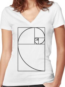 Golden Ratio - Transparent Women's Fitted V-Neck T-Shirt
