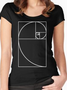 Golden Ratio - White  Women's Fitted Scoop T-Shirt