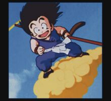 GOKU RIDING ON NIMBUS  by SimpleClothing