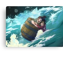 Master Baggins, hold on! Canvas Print
