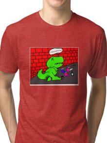 Drunk T-Rex Tri-blend T-Shirt