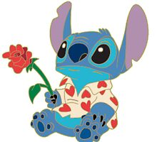 Stitch with flower by LilooCola