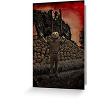 Pumpkin king Greeting Card
