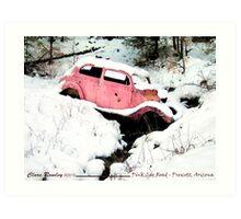 Pink Car Road - Prescott, Arizona Art Print