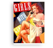 Gun Crazy Call Girl Metal Print