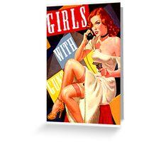 Gun Crazy Call Girl Greeting Card