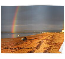 Rainbow over The Bay Poster