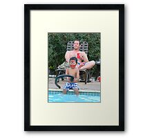 And HEEEEERE'S SPIDER MAN! Framed Print