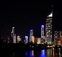 Dark city of Gold Coast  by Getoutandwalk
