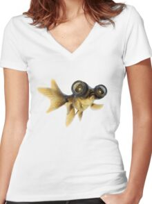 Lens eyed fish Women's Fitted V-Neck T-Shirt