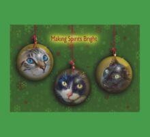 Making Spirits Bright – Christmas Cats Baby Tee