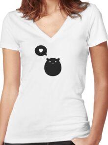 Kitty Love Women's Fitted V-Neck T-Shirt