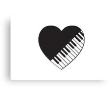 Piano Heart Canvas Print