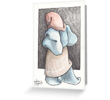WOMAN WITH RED SHAWL Greeting Card