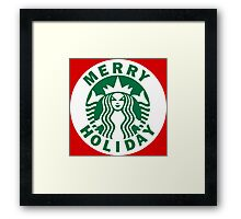 Red Cup Christmas Framed Print