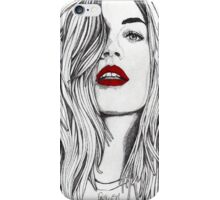 The Girl with the Red Lips iPhone Case/Skin
