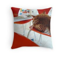 Six Orange Seven Chairs Throw Pillow