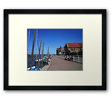 Boats on the River Framed Print