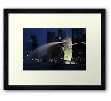 Merlion, Singapore Framed Print