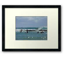 Watch the Rocks Framed Print