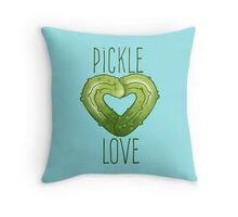 Pickle Love Throw Pillow