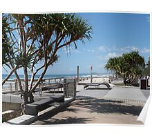 Beach Bench Poster