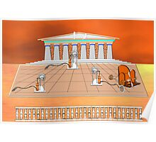 1st century Pumping Station, Athens, Greece Poster