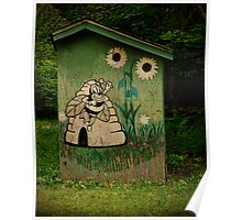 Beekeepers Outhouse Poster