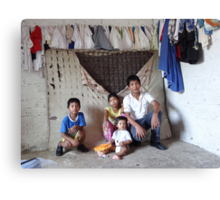 """make poverty history"" - hacer probreza historia Canvas Print"