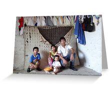 """make poverty history"" - hacer probreza historia Greeting Card"
