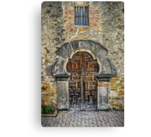 Mute, Fragile, Enduring, the Mission Espada, San Antonio, Texas, USA Canvas Print