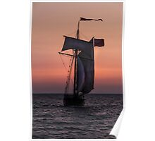 Tall Ship in South Haven Poster