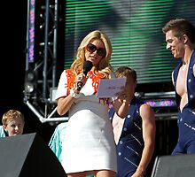 Tess Daly Queen Elizabeth Olympic Park by Keith Larby