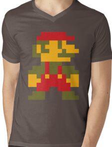 8 bit Mario V.2 Mens V-Neck T-Shirt