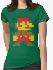 8 bit Mario V.2 Womens Fitted T-Shirt